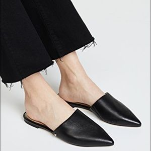 SAM EDELMAN 'RUMI' Leather Pointed Toe Flat Mule